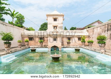Taman Sari water palace of Yogyakarta on Java island Indonesia.