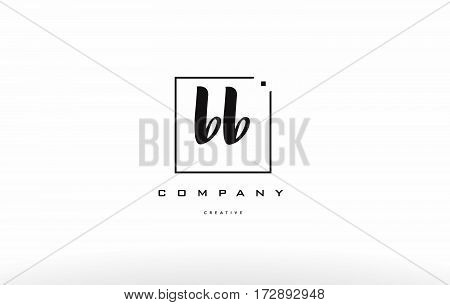 Bb B B  Hand Writing Letter Company Logo Icon Design