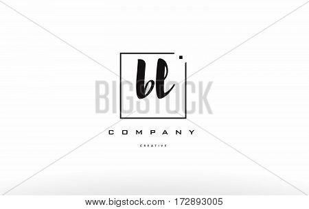 Bl B L Hand Writing Letter Company Logo Icon Design