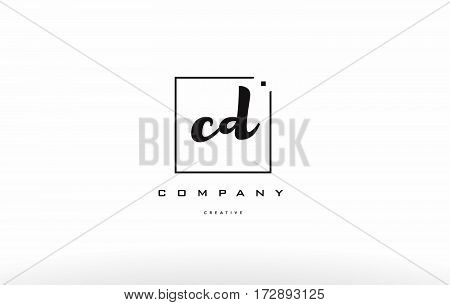 Cd C D Hand Writing Letter Company Logo Icon Design