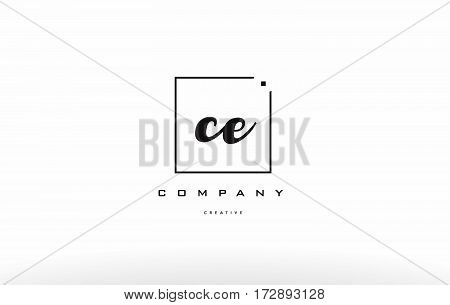 Ce C E Hand Writing Letter Company Logo Icon Design