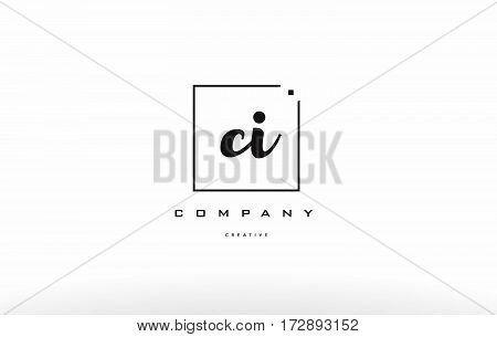Ci C I Hand Writing Letter Company Logo Icon Design