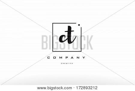 Ct C T Hand Writing Letter Company Logo Icon Design