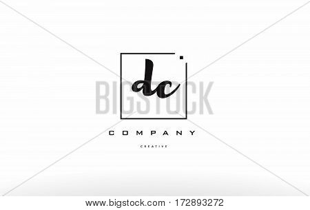 Dc D C Hand Writing Letter Company Logo Icon Design