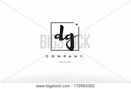 Dg D G Hand Writing Letter Company Logo Icon Design
