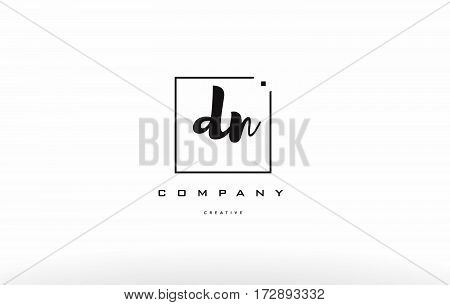 Dn D N Hand Writing Letter Company Logo Icon Design