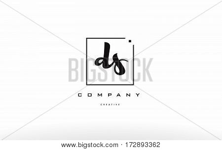 Ds D S Hand Writing Letter Company Logo Icon Design