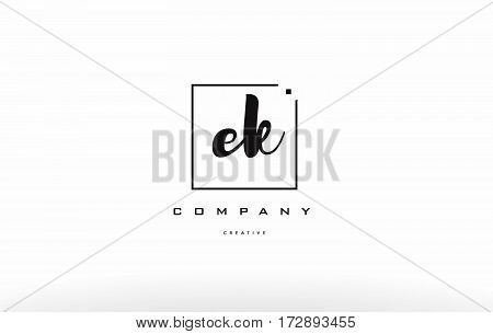 Ek E K Hand Writing Letter Company Logo Icon Design