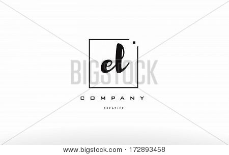 El E L Hand Writing Letter Company Logo Icon Design