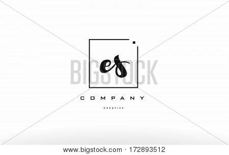 Es E S Hand Writing Letter Company Logo Icon Design