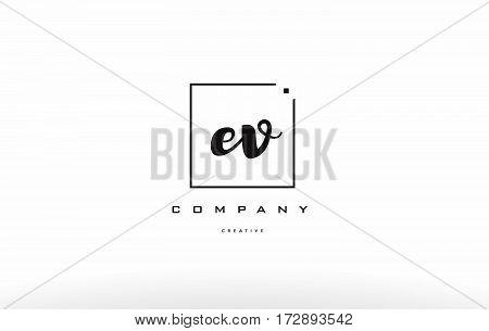 Ev E V Hand Writing Letter Company Logo Icon Design