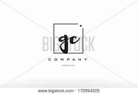 Gc G C Hand Writing Letter Company Logo Icon Design