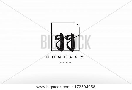 Gg G G Hand Writing Letter Company Logo Icon Design