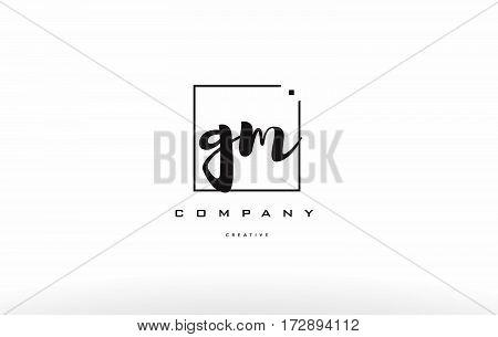Gm G M Hand Writing Letter Company Logo Icon Design