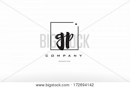 Gp G P Hand Writing Letter Company Logo Icon Design