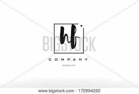 Hf H F Hand Writing Letter Company Logo Icon Design