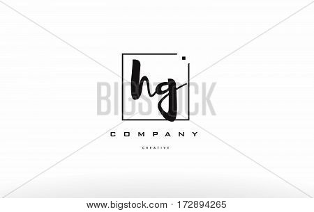 Hg H G Hand Writing Letter Company Logo Icon Design