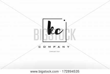 Kc K C Hand Writing Letter Company Logo Icon Design