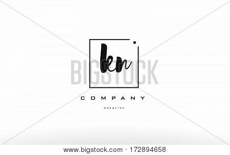 Kn K N Hand Writing Letter Company Logo Icon Design