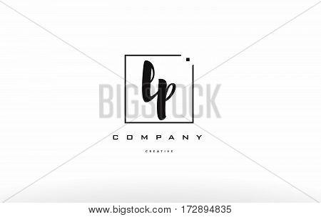 Lp L P Hand Writing Letter Company Logo Icon Design