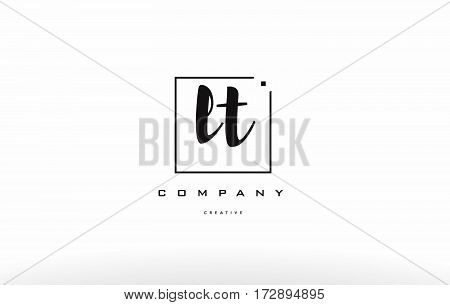 Lt L T Hand Writing Letter Company Logo Icon Design