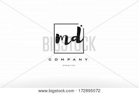 Md M D Hand Writing Letter Company Logo Icon Design