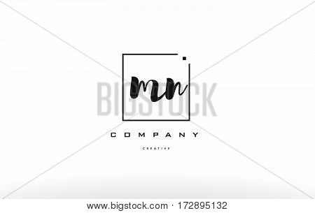Mn M N Hand Writing Letter Company Logo Icon Design