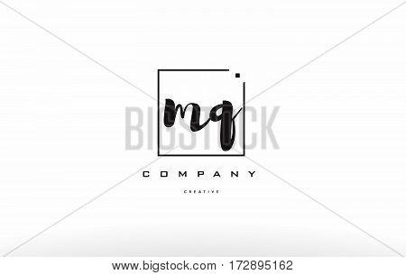 Mq M Q Hand Writing Letter Company Logo Icon Design