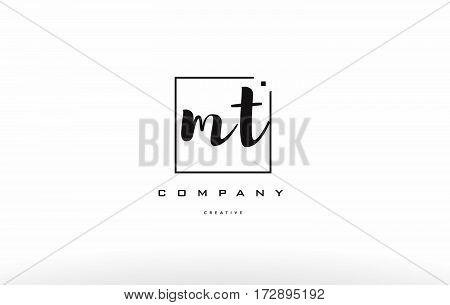 Mt M T Hand Writing Letter Company Logo Icon Design