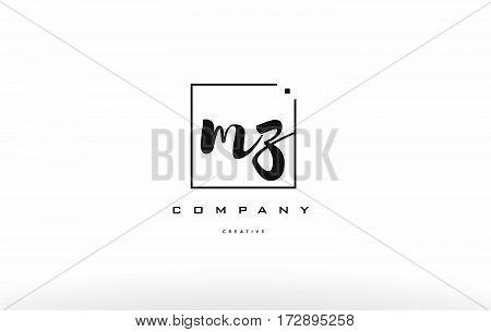 Mz M Z Hand Writing Letter Company Logo Icon Design