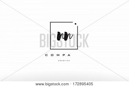 Np N P Hand Writing Letter Company Logo Icon Design