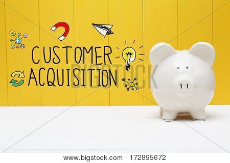 Customer Acquisition Text With Piggy Bank