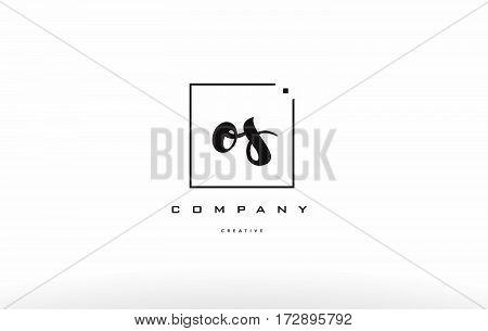 Os O S Hand Writing Letter Company Logo Icon Design