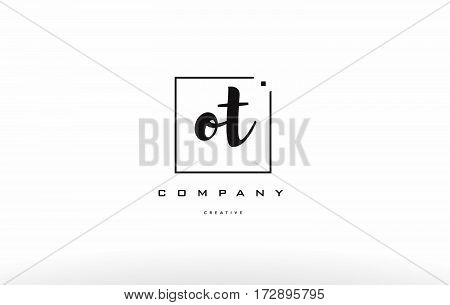Ot O T Hand Writing Letter Company Logo Icon Design