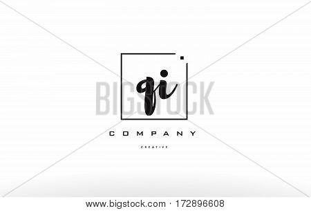 Qi Q I Hand Writing Letter Company Logo Icon Design