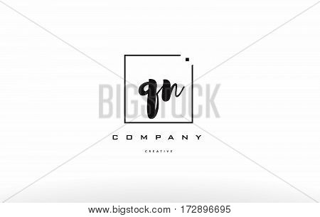 Qn Q N Hand Writing Letter Company Logo Icon Design