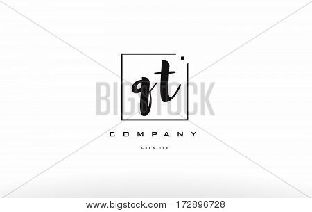 Qt Q T Hand Writing Letter Company Logo Icon Design