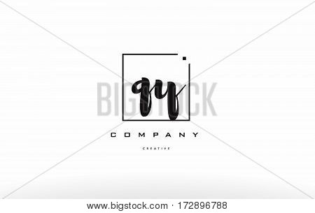 Qy Q Y Hand Writing Letter Company Logo Icon Design