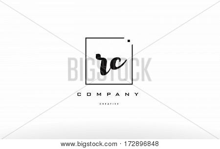 Rc R C Hand Writing Letter Company Logo Icon Design