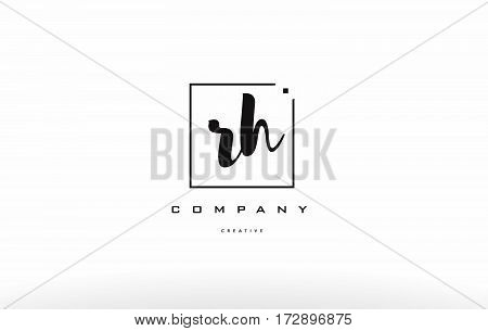 Rh R H Hand Writing Letter Company Logo Icon Design