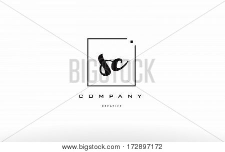 Sc S C Hand Writing Letter Company Logo Icon Design