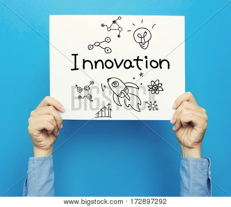 Innovation Text On A White Poster