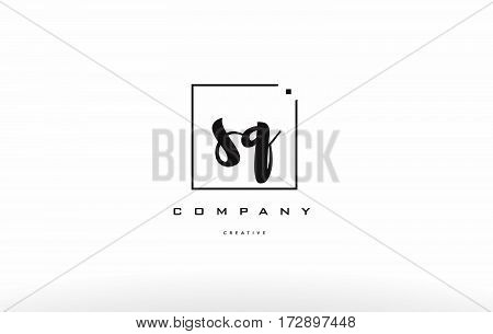 Sq S Q Hand Writing Letter Company Logo Icon Design