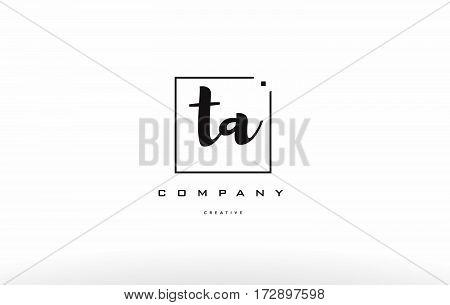 Ta T A Hand Writing Letter Company Logo Icon Design