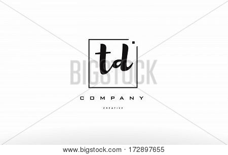 Td T D Hand Writing Letter Company Logo Icon Design