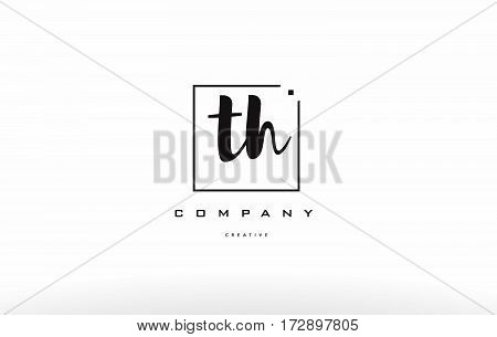 Th T H Hand Writing Letter Company Logo Icon Design