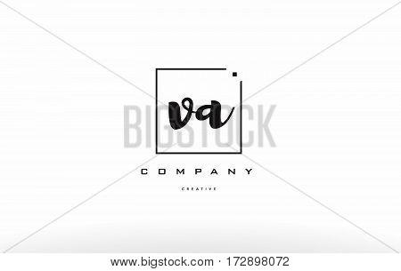 Va V A Hand Writing Letter Company Logo Icon Design