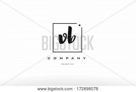 Vb V B Hand Writing Letter Company Logo Icon Design
