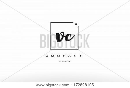 Vc V C Hand Writing Letter Company Logo Icon Design