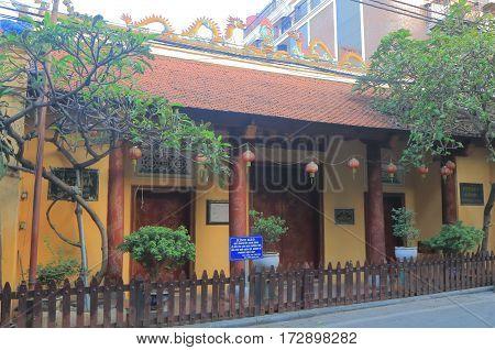 HANOI VIETNAM - NOVEMBER 22, 2016: Bach Ma temple in Old Quarter.